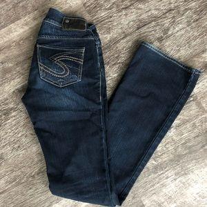 Silver Darkwash Suki Flare Jeans